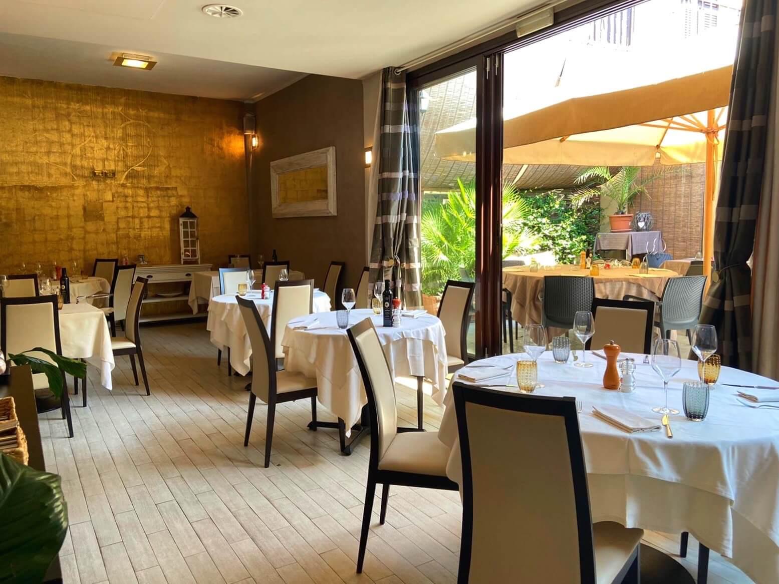 Il ristorante e il giardino